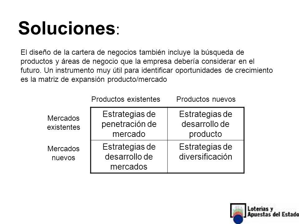 Soluciones: Estrategias de penetración de mercado