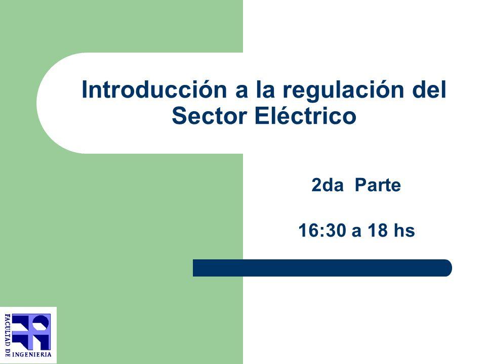 Introducción a la regulación del Sector Eléctrico