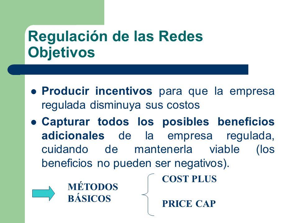 Regulación de las Redes Objetivos