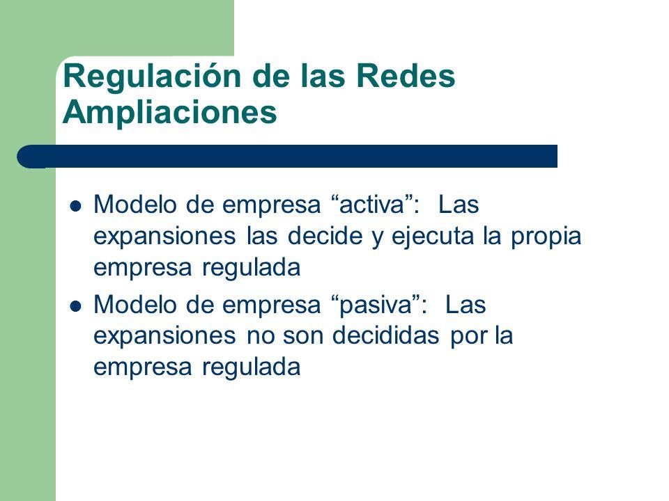 Regulación de las Redes Ampliaciones