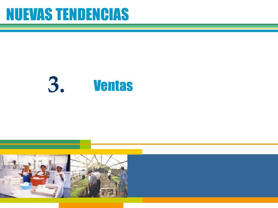 NUEVAS TENDENCIAS 3. Ventas