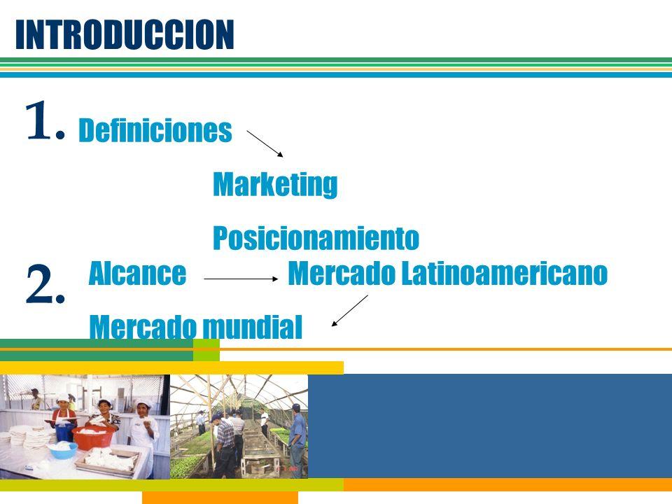 1. 2. INTRODUCCION Definiciones Marketing Posicionamiento