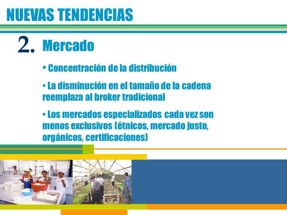 2. NUEVAS TENDENCIAS Mercado Concentración de la distribución