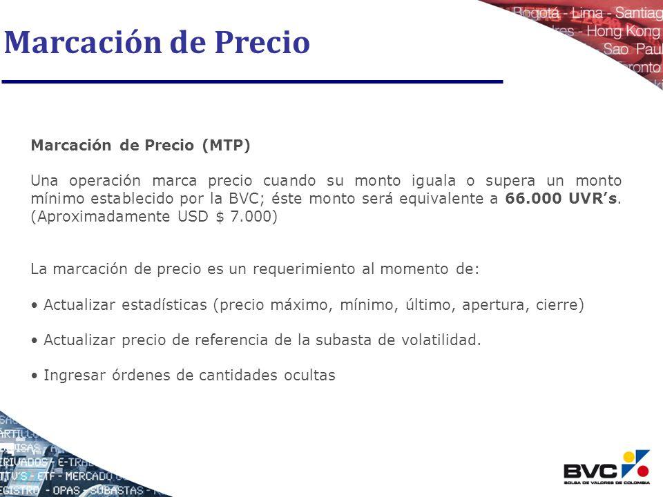 Marcación de Precio Marcación de Precio (MTP)