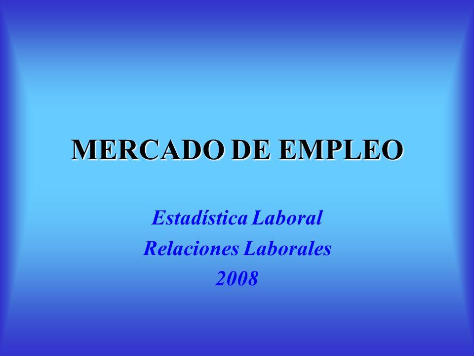 Estadística Laboral Relaciones Laborales 2008