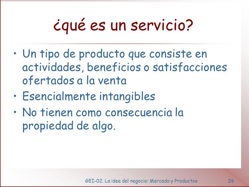 Niveles de producto y servicio.
