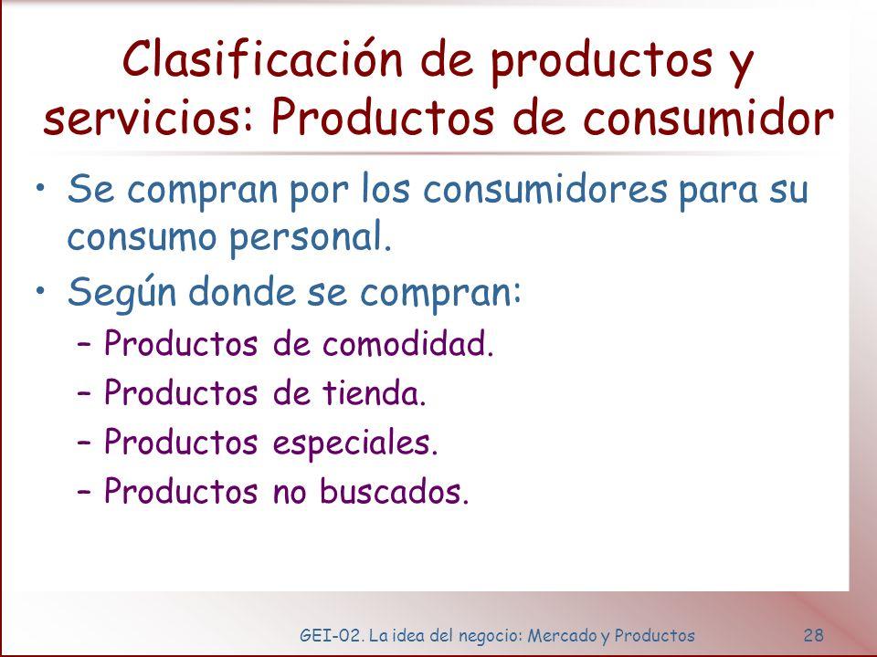 Productos de comodidad,