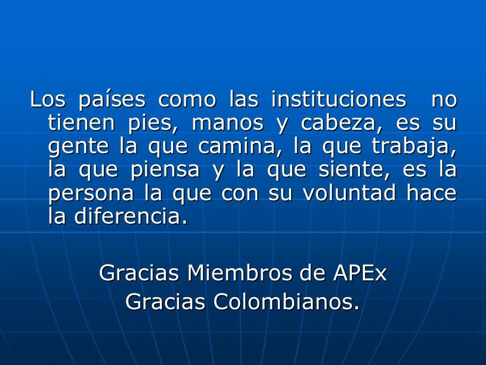Gracias Miembros de APEx