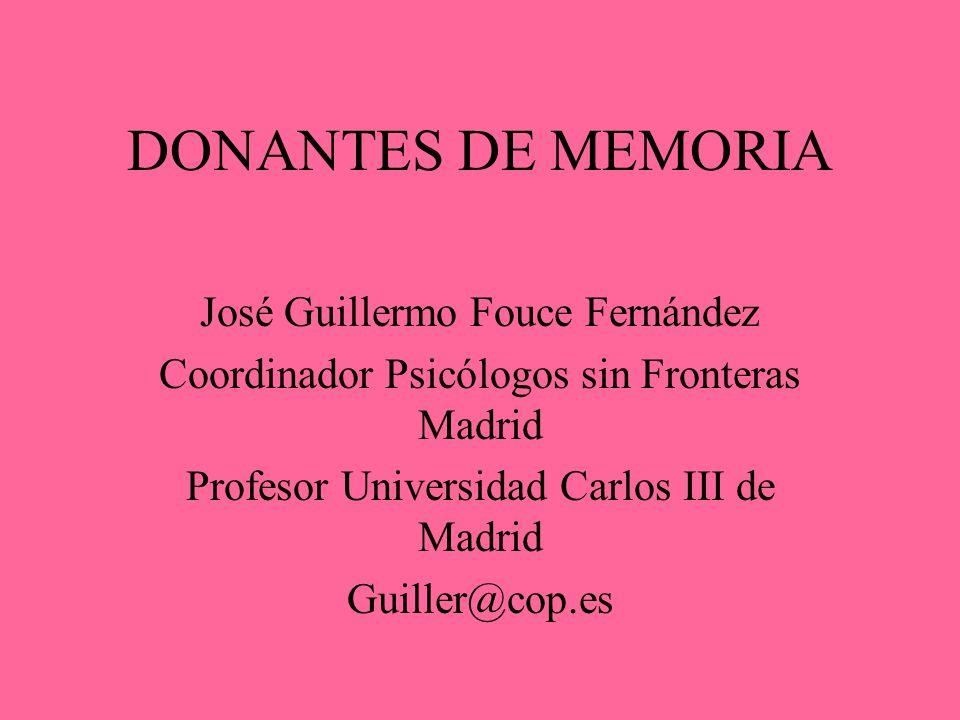 DONANTES DE MEMORIA José Guillermo Fouce Fernández