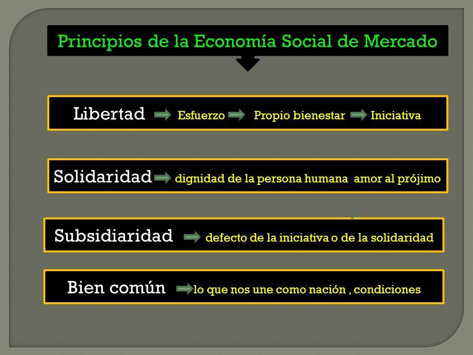 Principios de la Economía Social de Mercado