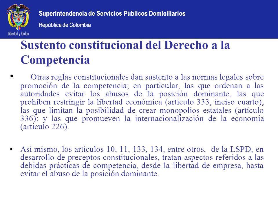 Sustento constitucional del Derecho a la Competencia