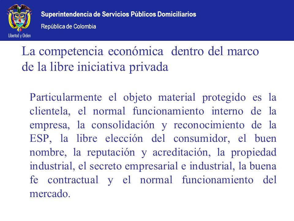 La competencia económica dentro del marco de la libre iniciativa privada