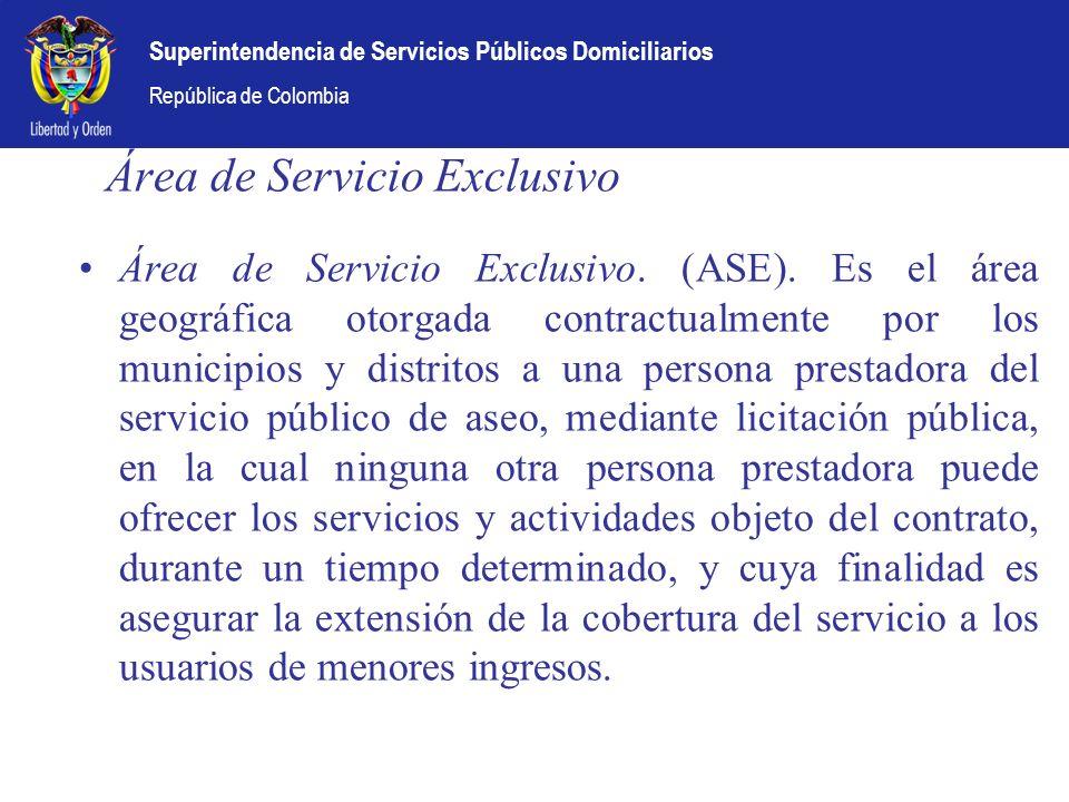 Área de Servicio Exclusivo