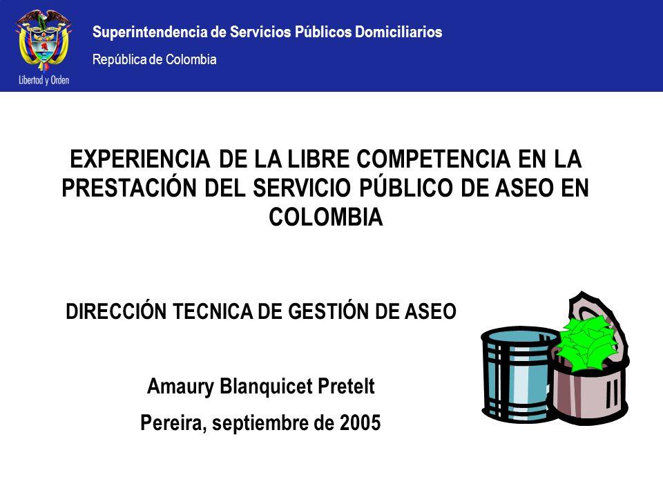 DIRECCIÓN TECNICA DE GESTIÓN DE ASEO Amaury Blanquicet Pretelt