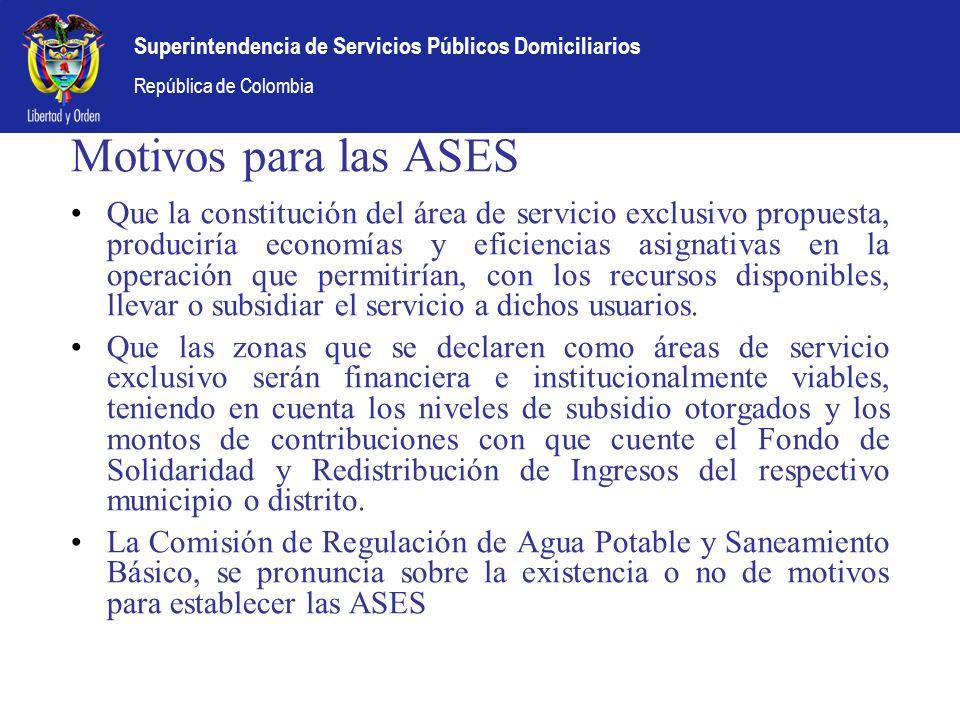 Motivos para las ASES