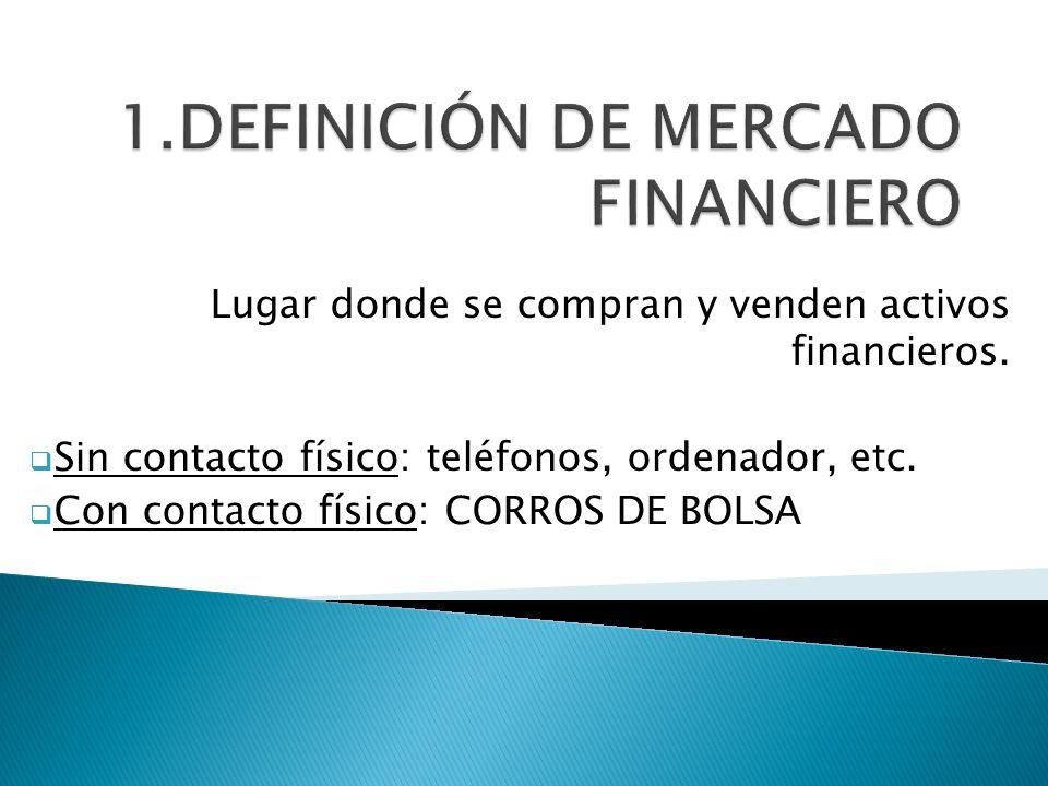 1.DEFINICIÓN DE MERCADO FINANCIERO