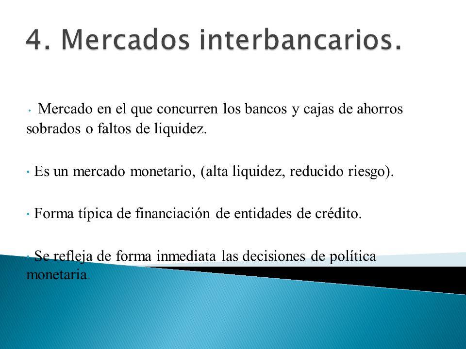 4. Mercados interbancarios.