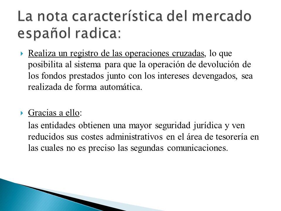 La nota característica del mercado español radica: