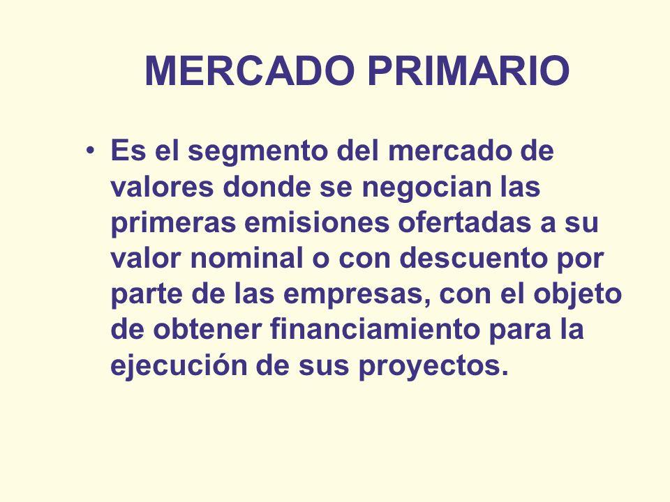 MERCADO PRIMARIO