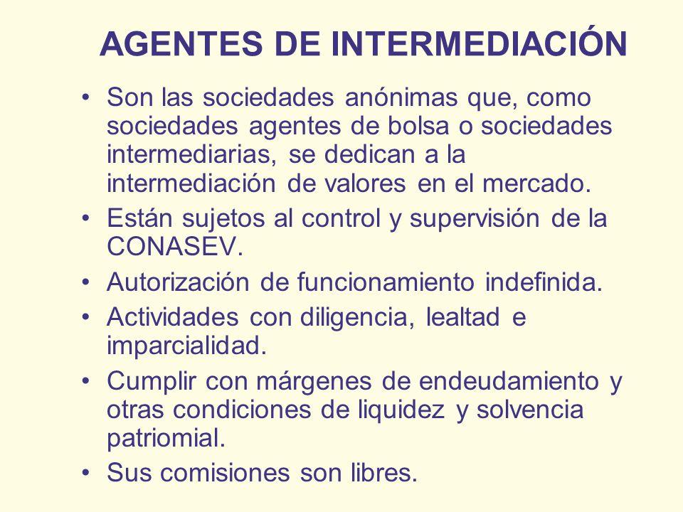 AGENTES DE INTERMEDIACIÓN