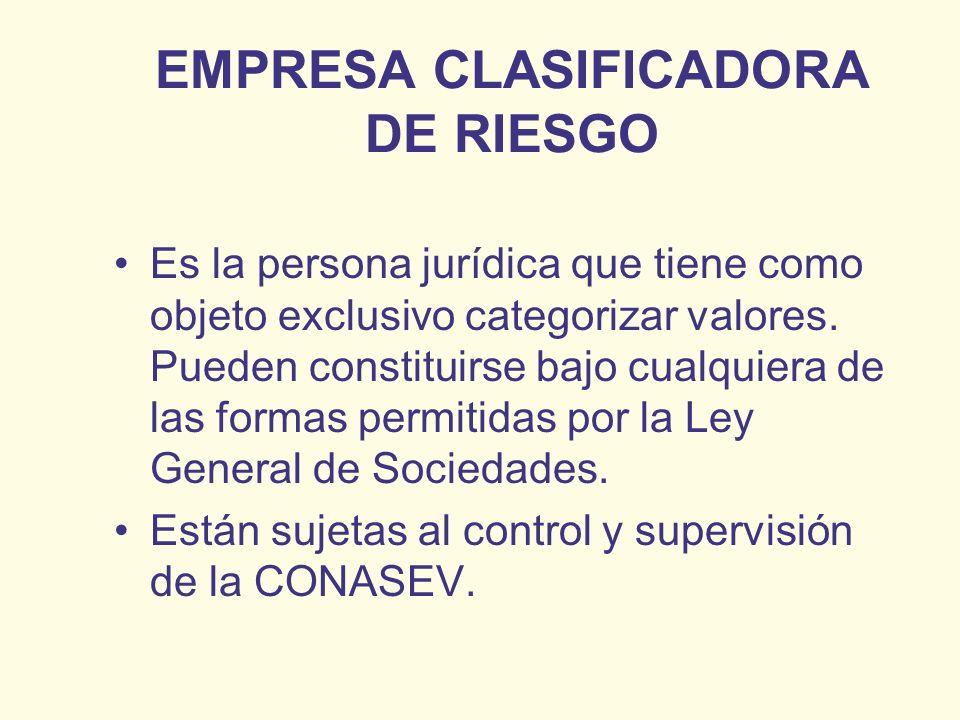 EMPRESA CLASIFICADORA DE RIESGO