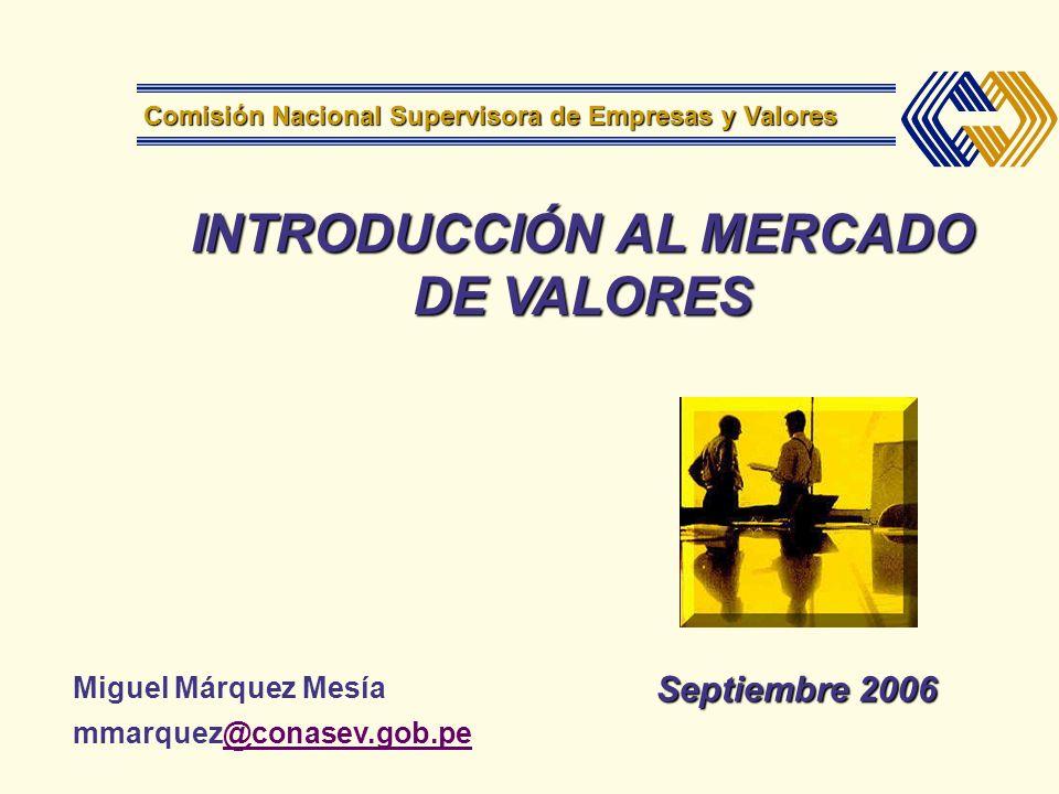 INTRODUCCIÓN AL MERCADO DE VALORES