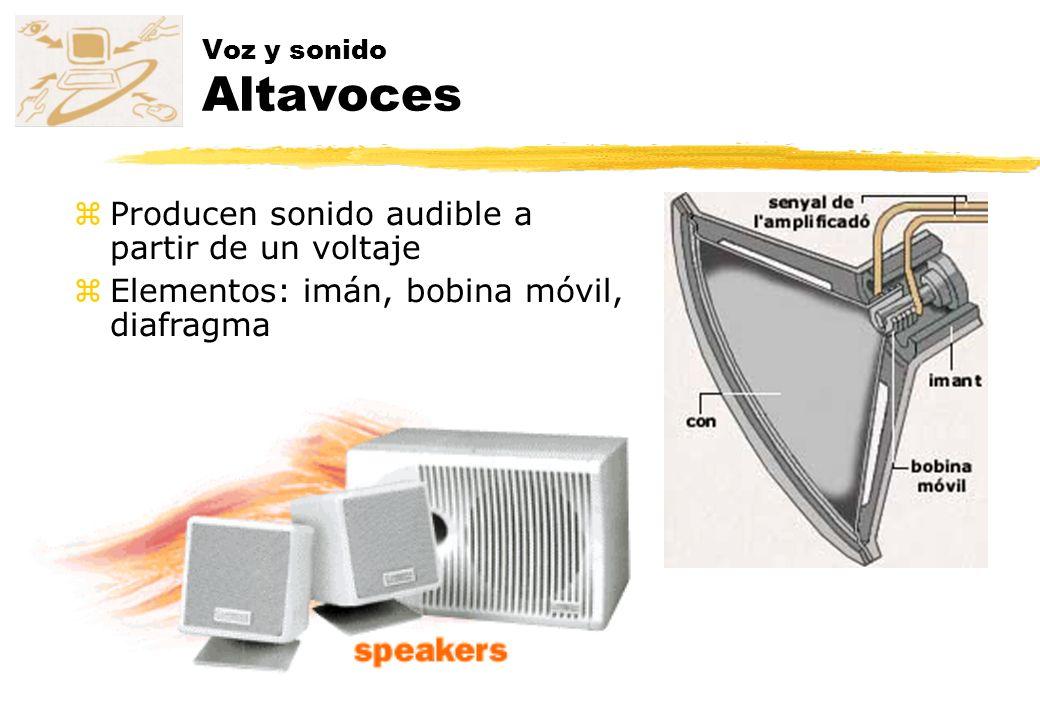 Producen sonido audible a partir de un voltaje