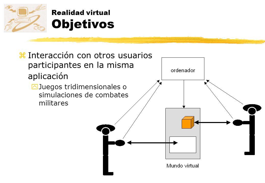 Realidad virtual Objetivos