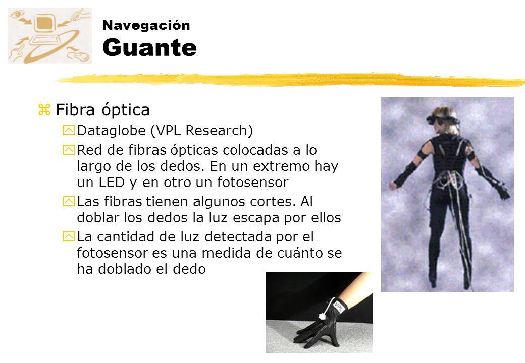 Fibra óptica Navegación Guante Dataglobe (VPL Research)
