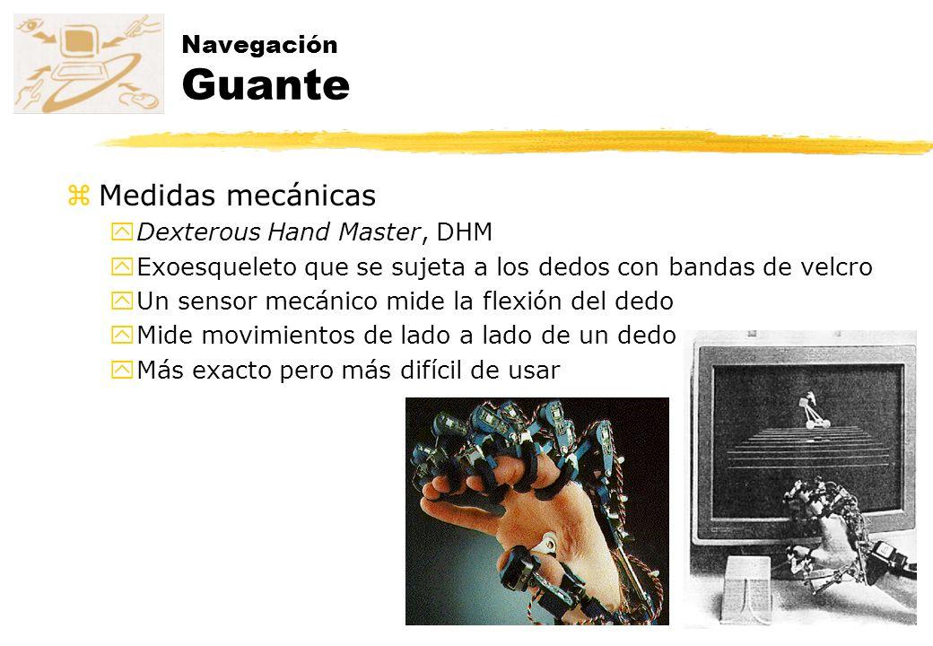 Medidas mecánicas Navegación Guante Dexterous Hand Master, DHM