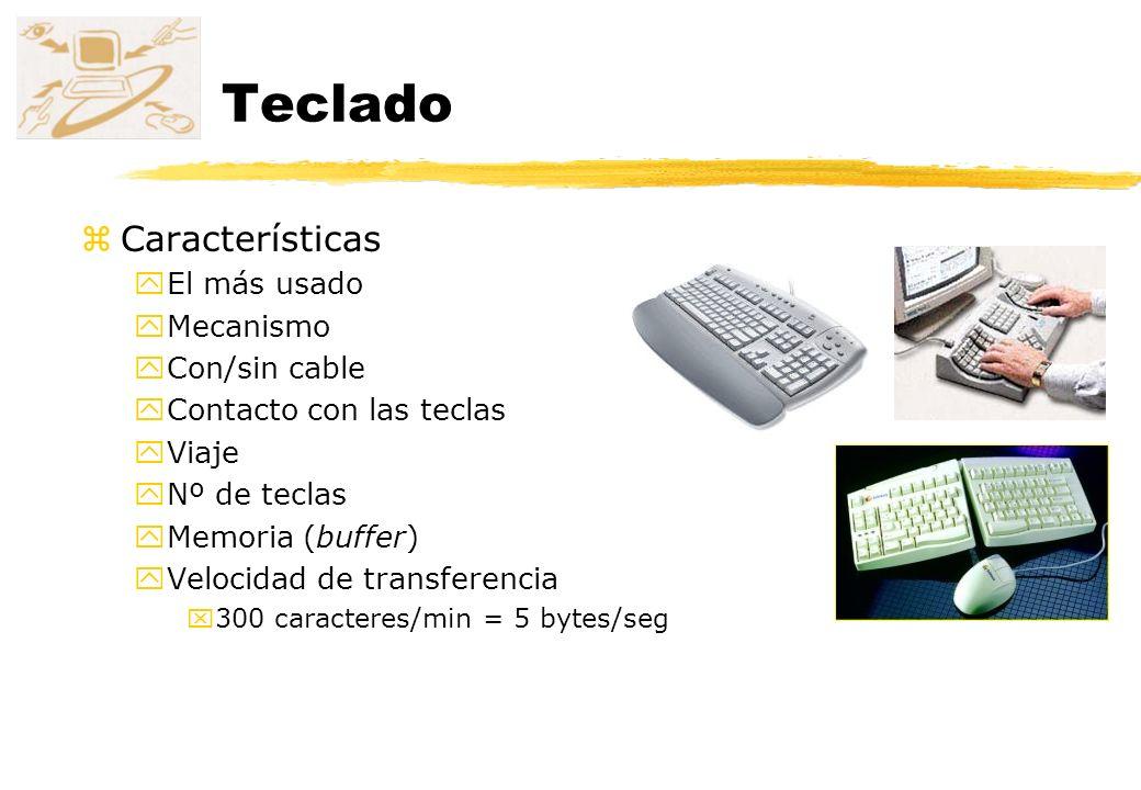 Teclado Características El más usado Mecanismo Con/sin cable