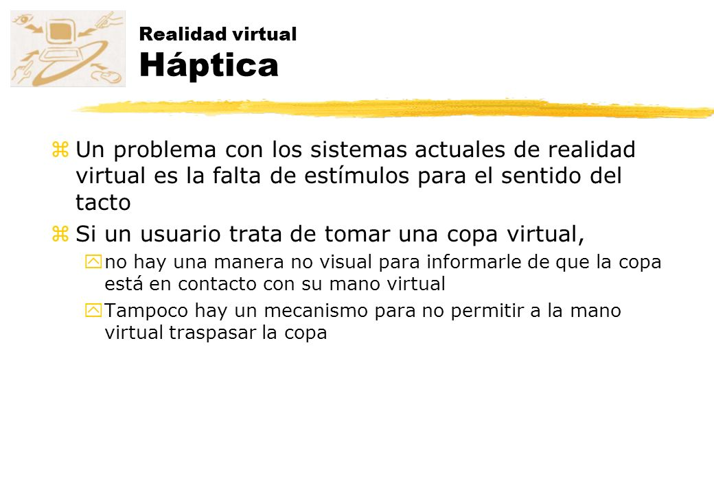 Realidad virtual Háptica