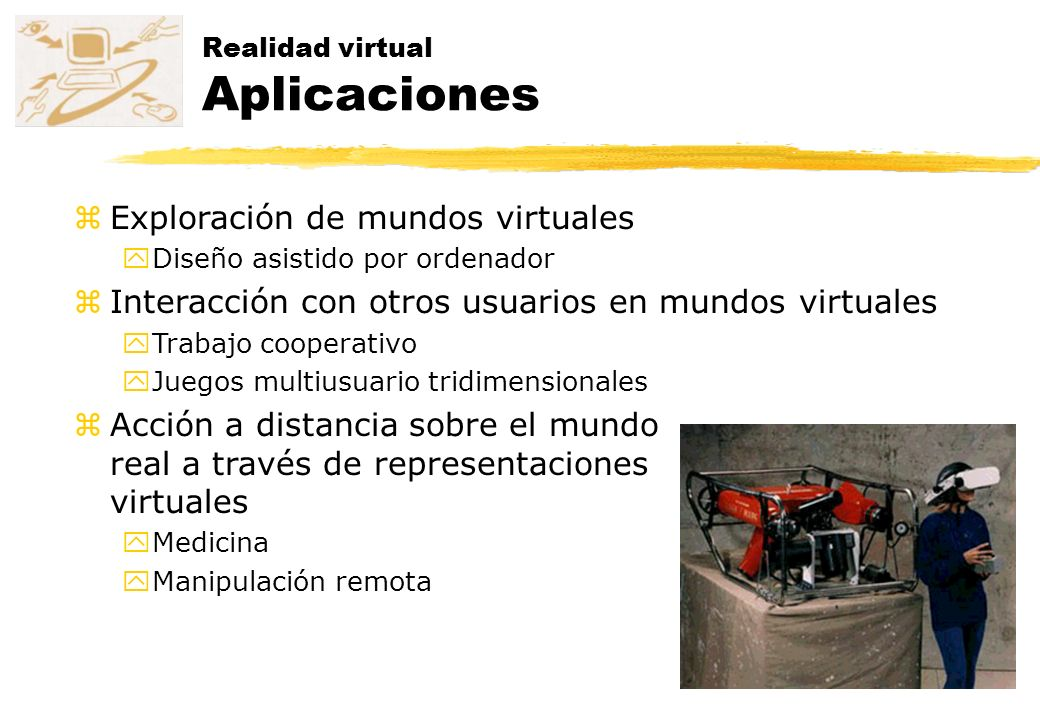 Realidad virtual Aplicaciones