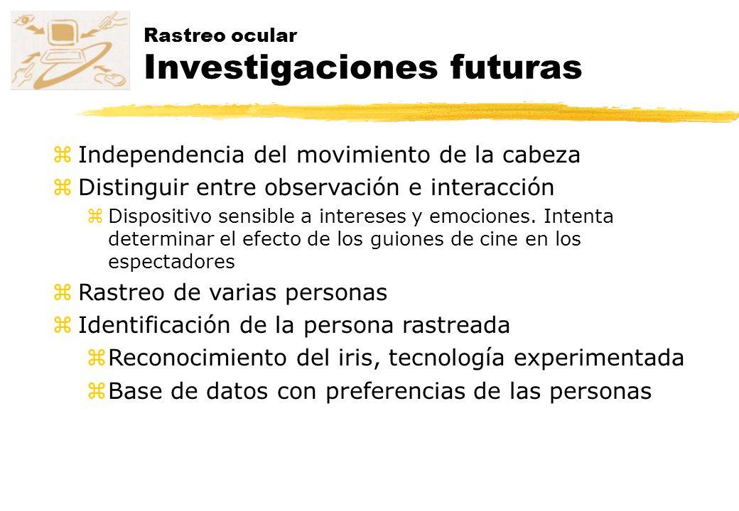 Rastreo ocular Investigaciones futuras