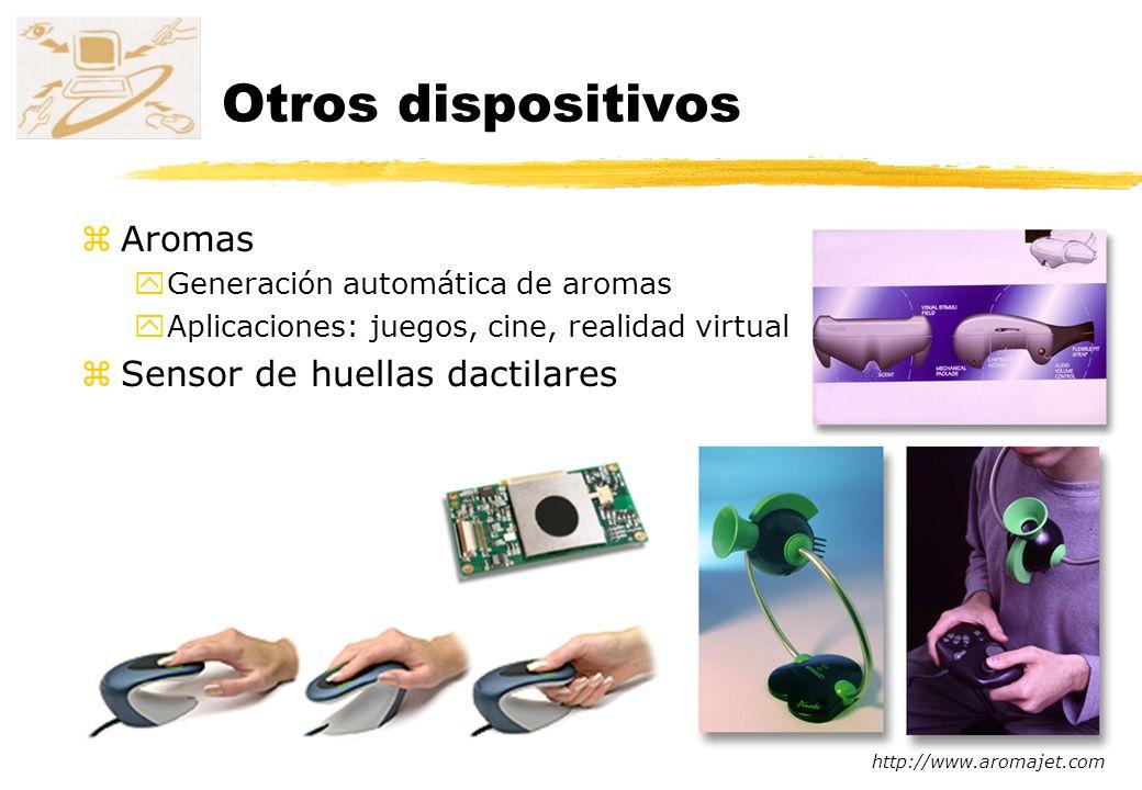 Otros dispositivos Aromas Sensor de huellas dactilares