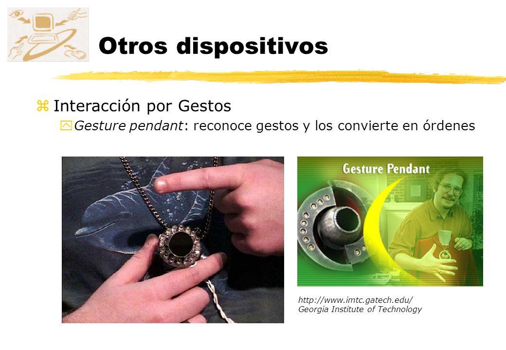 Otros dispositivos Interacción por Gestos