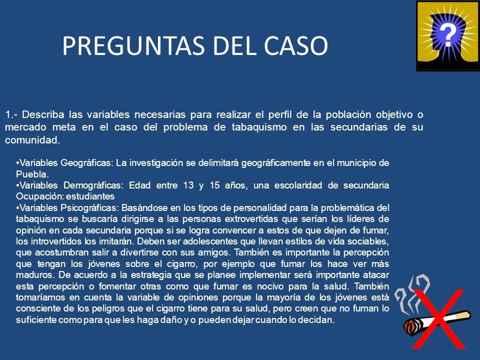 PREGUNTAS DEL CASO