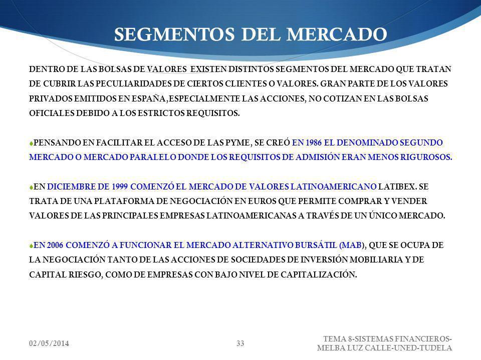 SEGMENTOS DEL MERCADO