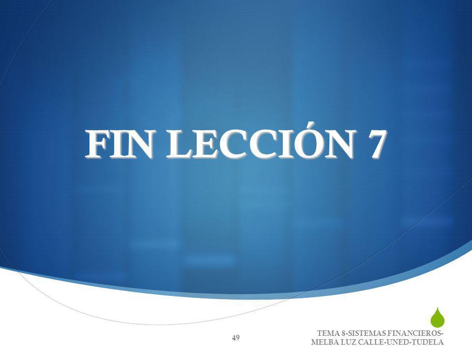 FIN LECCIÓN 7 TEMA 8-SISTEMAS FINANCIEROS-MELBA LUZ CALLE-UNED-TUDELA