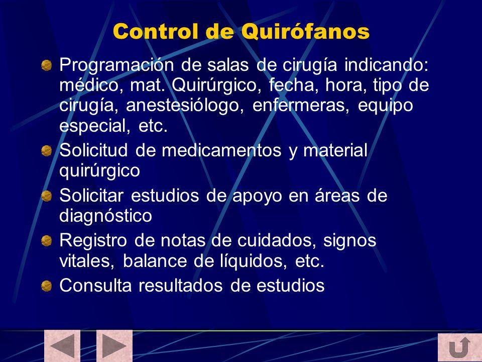 Control de Quirófanos