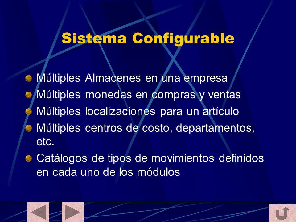 Sistema Configurable Múltiples Almacenes en una empresa