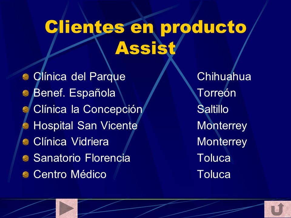 Clientes en producto Assist