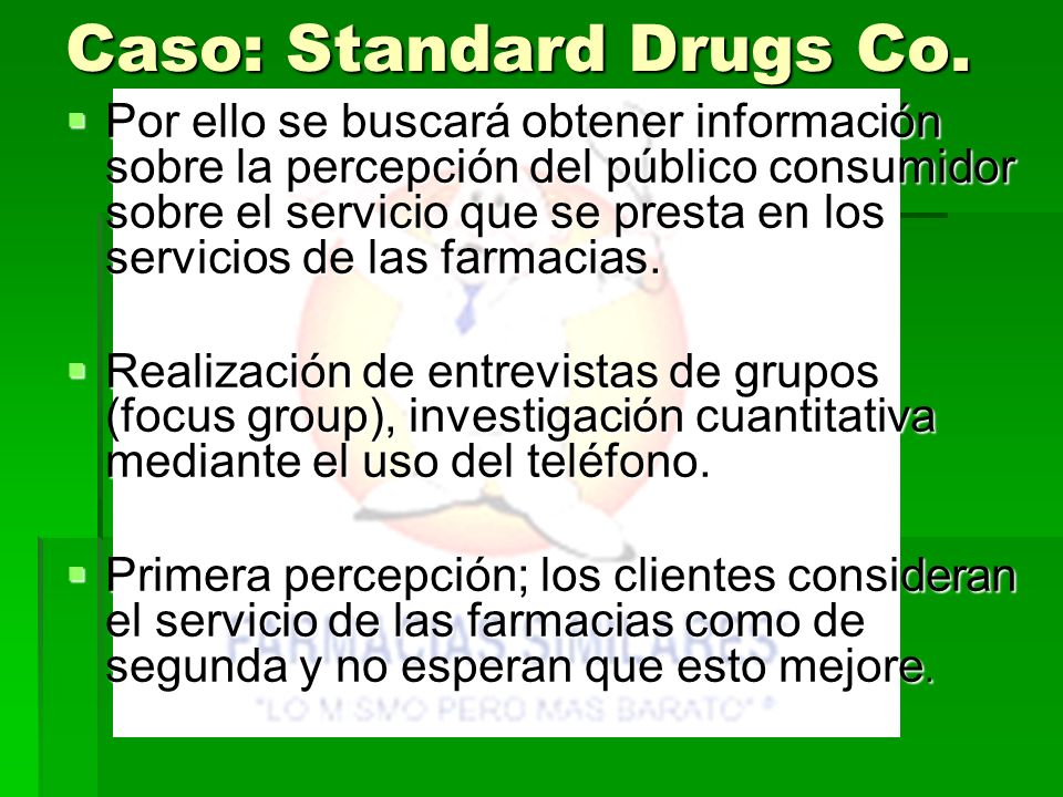 Caso: Standard Drugs Co.