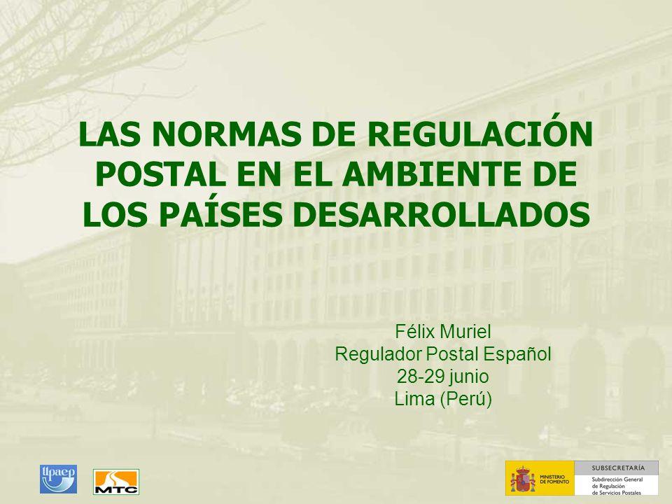 Félix Muriel Regulador Postal Español 28-29 junio Lima (Perú)