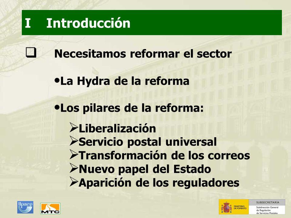 I Introducción Necesitamos reformar el sector La Hydra de la reforma