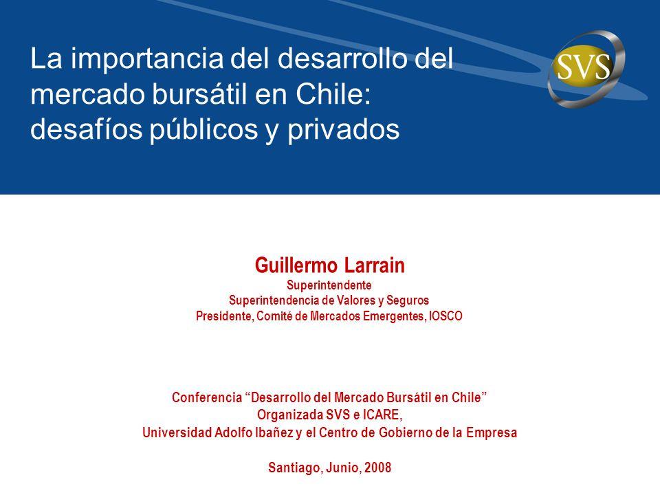 La importancia del desarrollo del mercado bursátil en Chile: desafíos públicos y privados