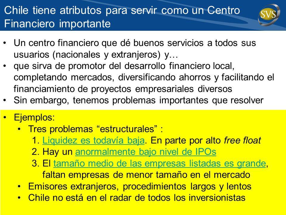 Chile tiene atributos para servir como un Centro Financiero importante