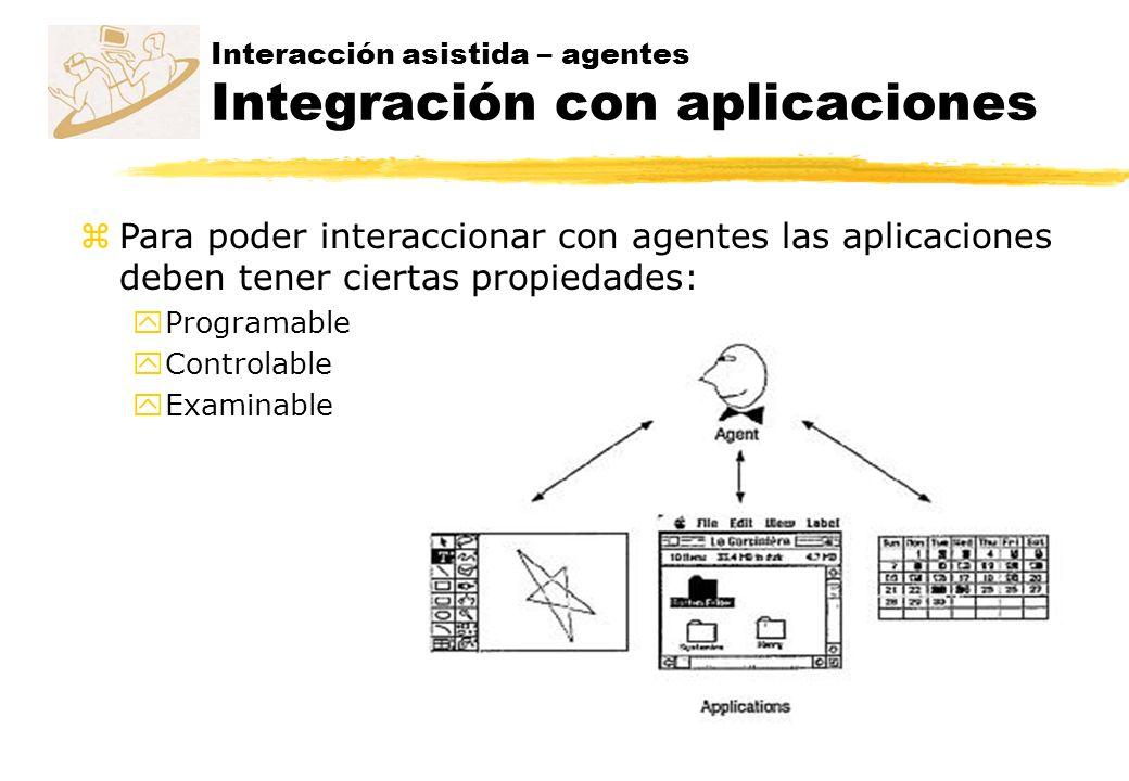 Interacción asistida – agentes Integración con aplicaciones