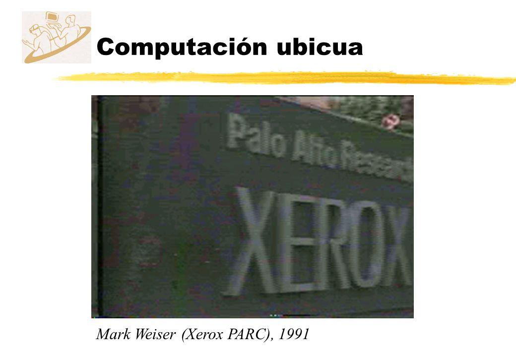 Computación ubicua Mark Weiser (Xerox PARC), 1991