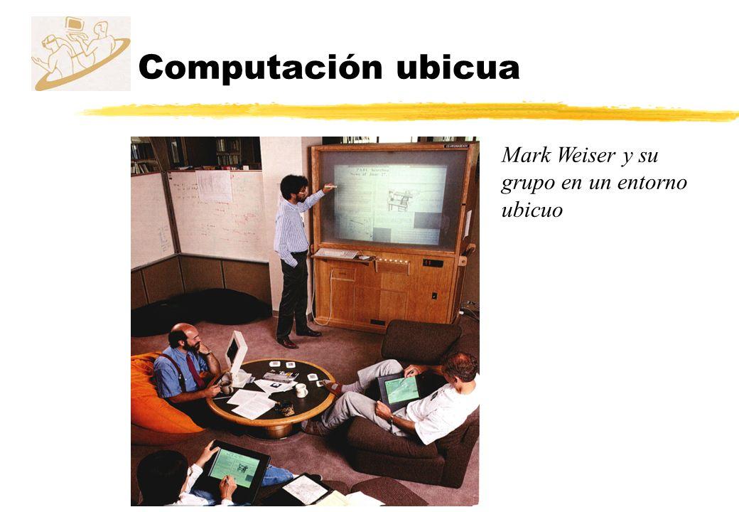 Computación ubicua Mark Weiser y su grupo en un entorno ubicuo